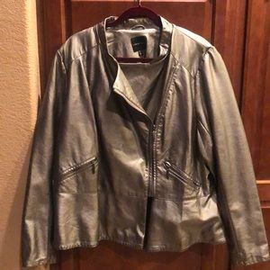 Leather jacket from Lane Bryant.